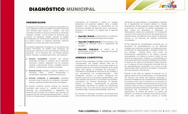 DIAGNÓSTICO MUNICIPALPRESENTACIÓN                                                     dimensiones del desarrollo y desde u...