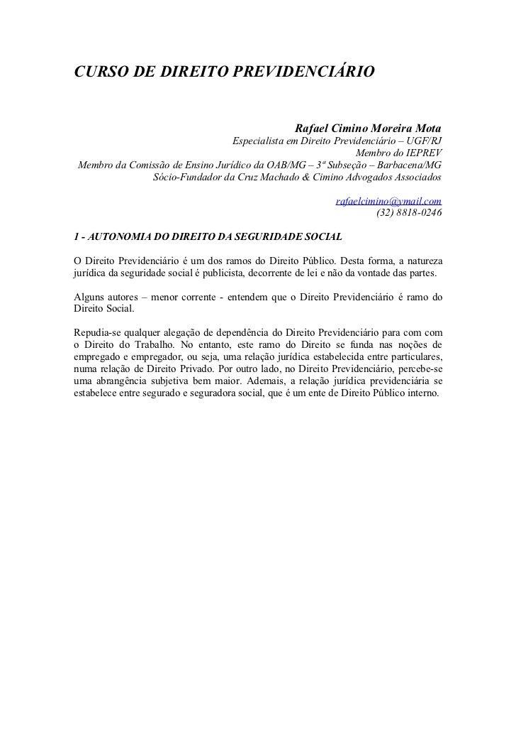3   direito previdenciário - 2012 - autonomia, fontes, interpretação e competência