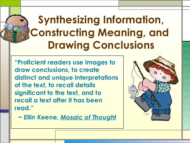3 - drawing conclusions & making inferences