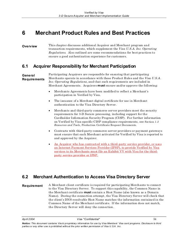 3 D Secure Acquirer And Merchant Implementation Guide