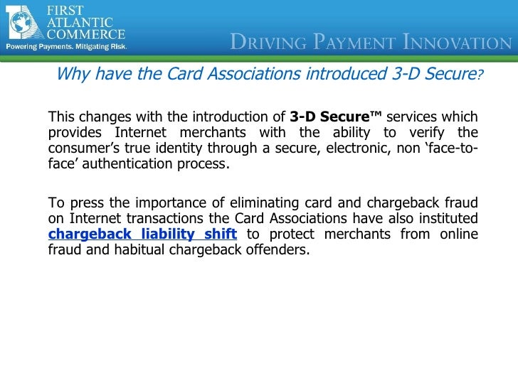 Payer Authentication Solutions For Verified by VISA