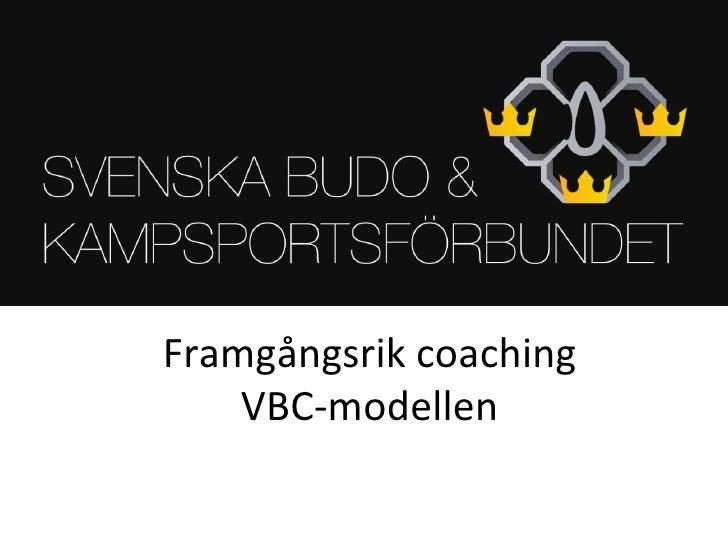 Framgångsrik coaching VBC-modellen