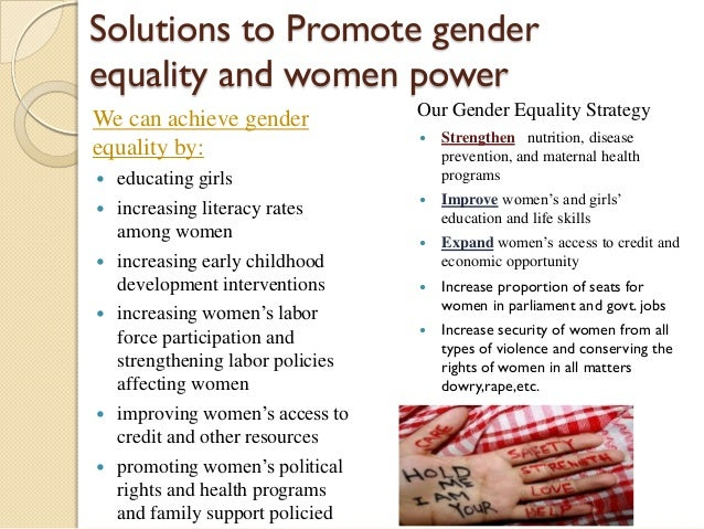 gender inequality solutions Feminism: the solution to gender inequality  play games like kickball with boys will help to break unfair gender  students showcase solutions,.