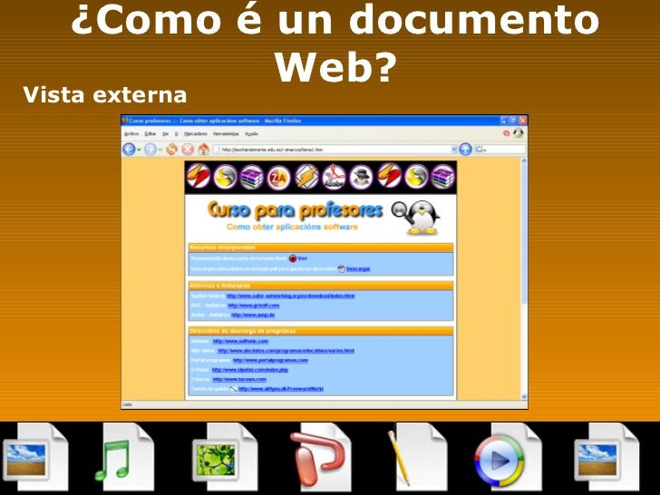 ¿Como é un documento Web? <ul><li>Vista externa </li></ul>