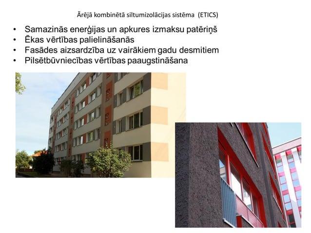 Ārējā kombinētā siltumizolācijas sistēma (ETICS)