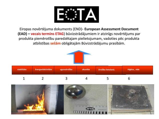 Eiropas novērtējuma dokuments (END)- European Assessment Document (EAD) – vecais termins ETAG) būvizstrādājumiem ir atzinī...