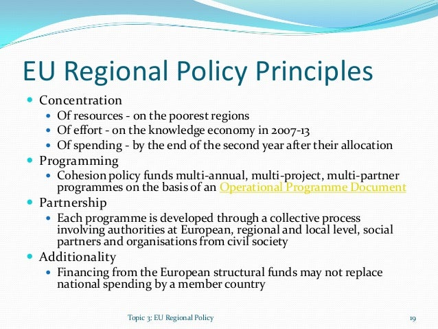 an overview of the eu regional policy Ecosystem overview of the european regional seas annex 3 wp 1 deliverable 14 lead contractor jrc – joint research centre, european commission authors (arranged in alphabetical order.