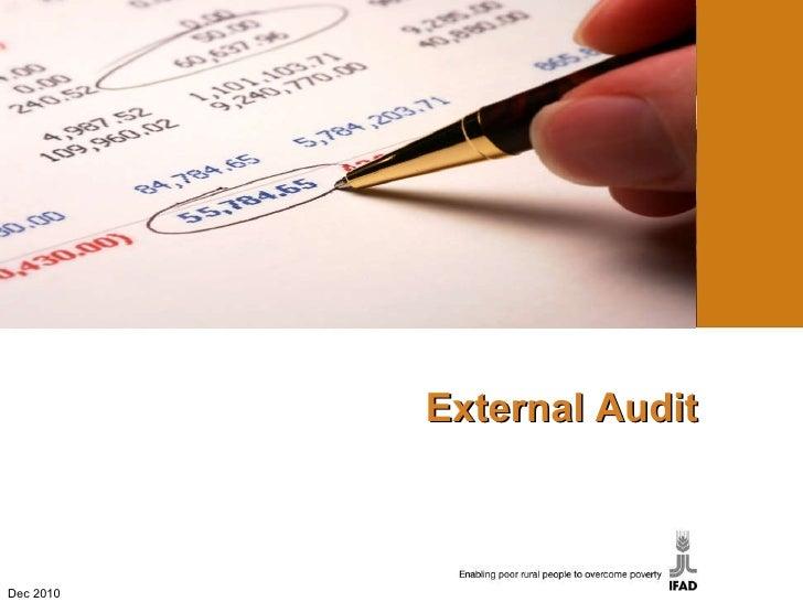 External Audit Dec 2010