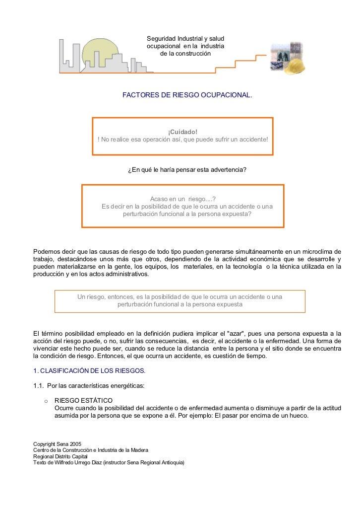 9ff386cef 3. Factores Riesgo Ocupacional. Seguridad Industrial y salud ...