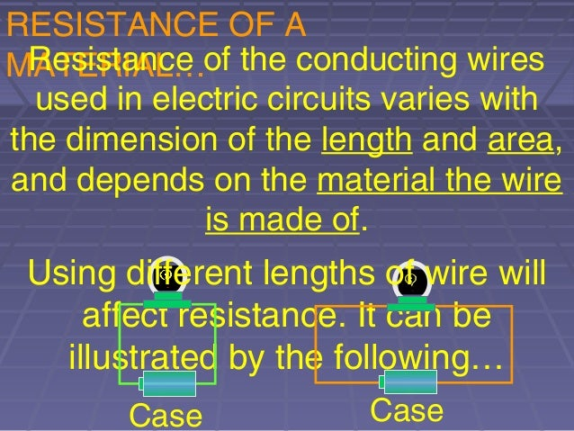 factors affecting resistance of a wire Factors affecting the resistance of a wire the aim of this experiment is to  investigate one factor that affect the resistance of a wire i will do this by  performing an.