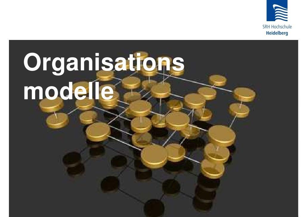 Organisations modelle