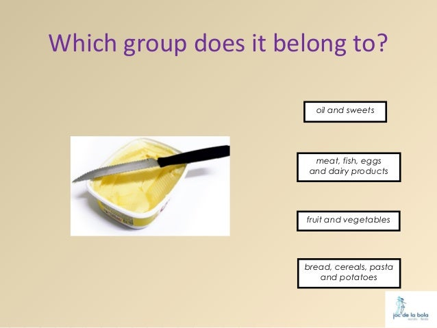 Which group does it belong to?                        oil and sweets                        meat, fish, eggs              ...