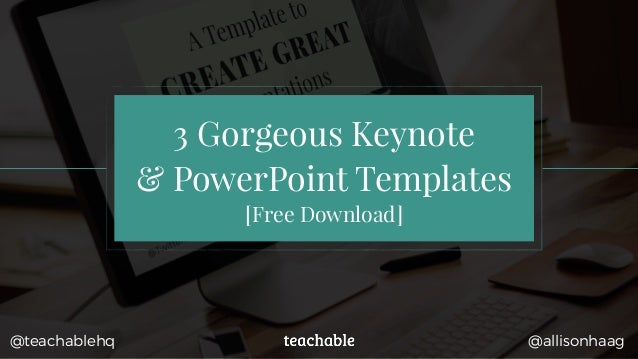 3 gorgeous keynote & powerpoint templates [free download] @allisonhaag, Modern powerpoint