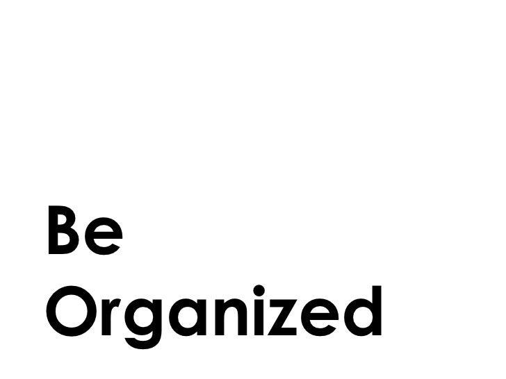 BeOrganized