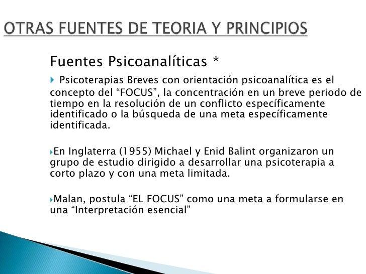 3. Fuentes, Teorias Y Principios De La Terapia Breve
