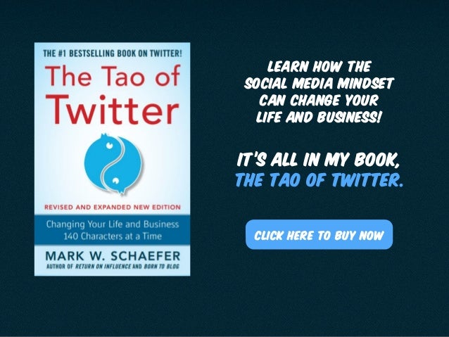 It's all in my book, The Tao of Twitter. Click here to Buy Now Learn how The social media Mindset can change your life and...