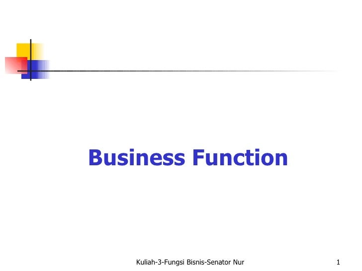 Business Function