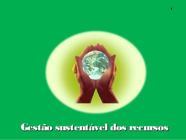 Gestão sustentável dos recursosGestão sustentável dos recursos 1