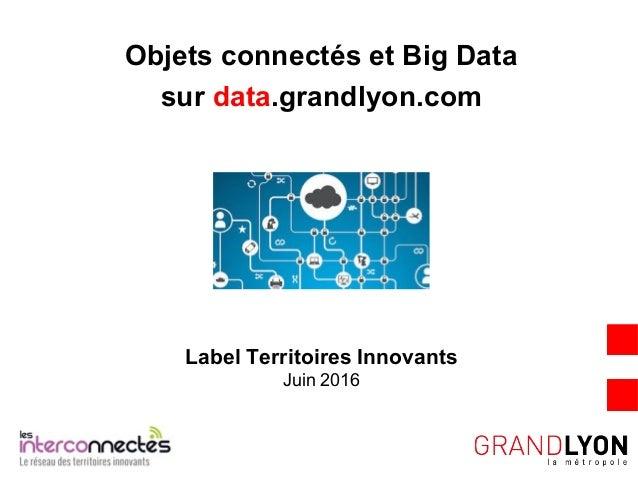Label Territoires Innovants Juin 2016 Objets connectés et Big Data sur data.grandlyon.com