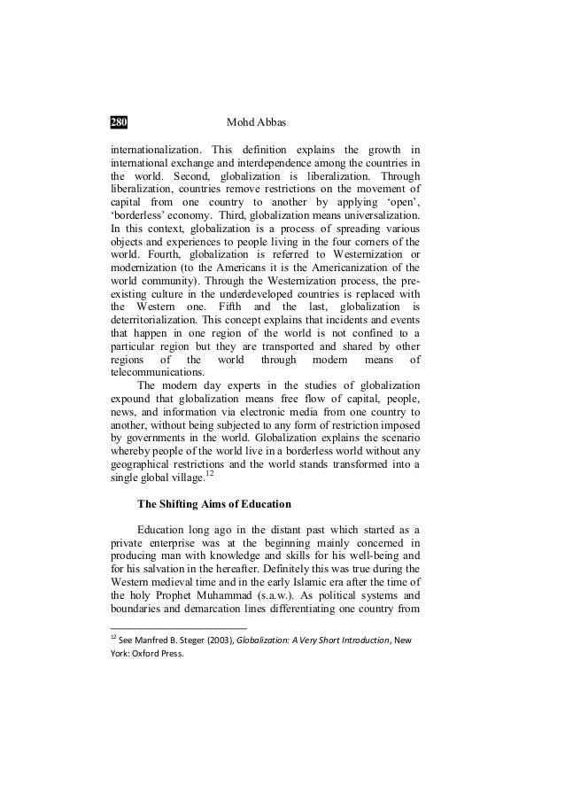 globalization and the muslim world journal paper 15 17 6