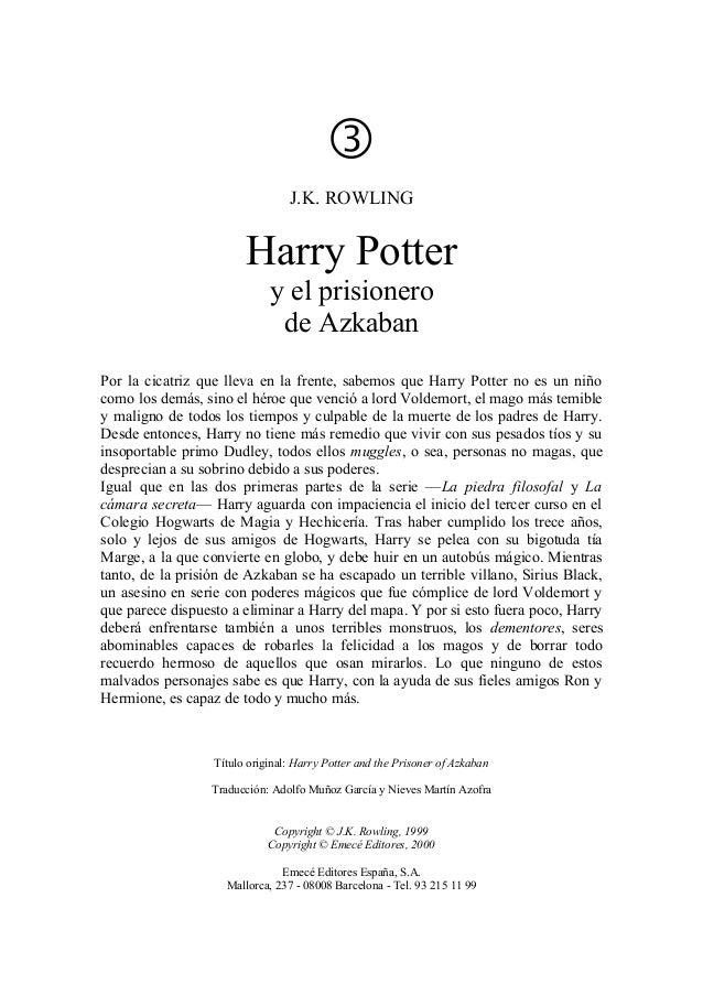                                  J.K. ROWLING                        Harry Potter                             y el prisio...
