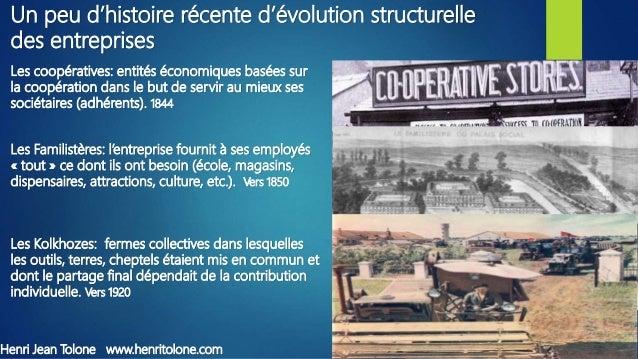 Les coopératives: entités économiques basées sur la coopération dans le but de servir au mieux ses sociétaires (adhérents)...
