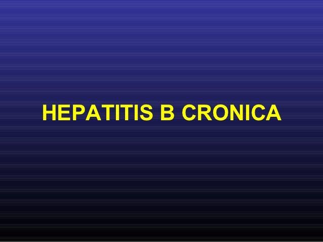 HEPATITIS B CRONICA