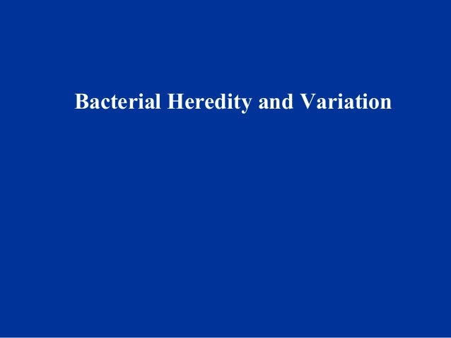 Bacterial Heredity and Variation