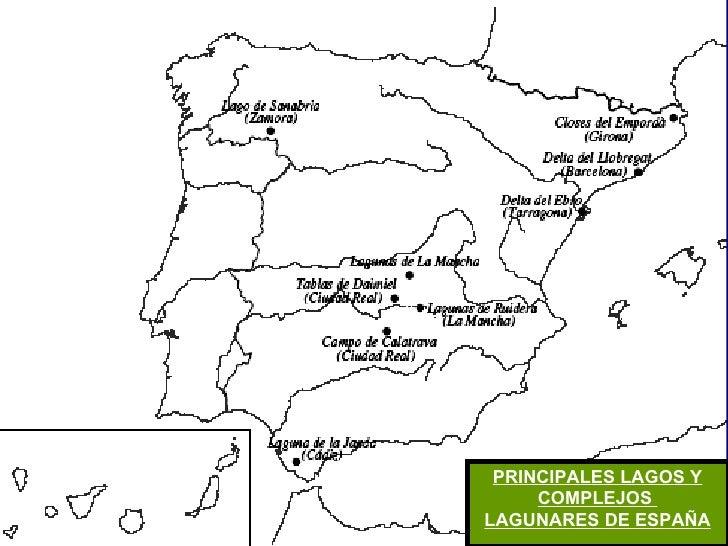 PRINCIPALES LAGOS Y COMPLEJOS  LAGUNARES DE ESPAÑA