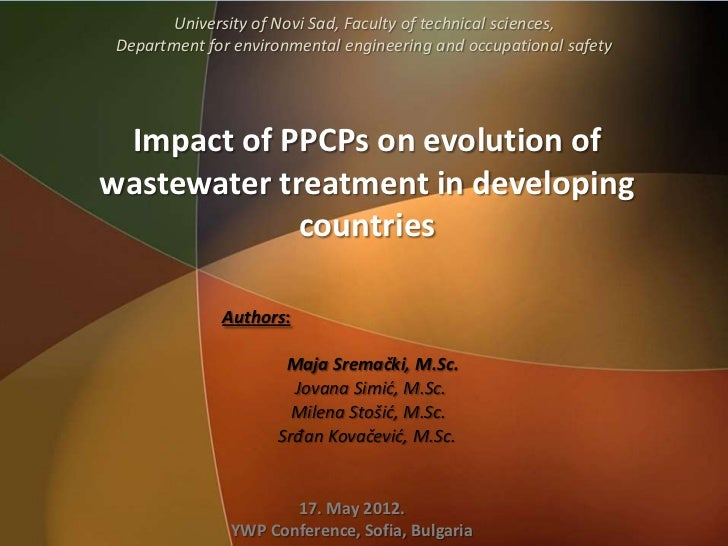 University of Novi Sad, Faculty of technical sciences, Department for environmental engineering and occupational safety Im...
