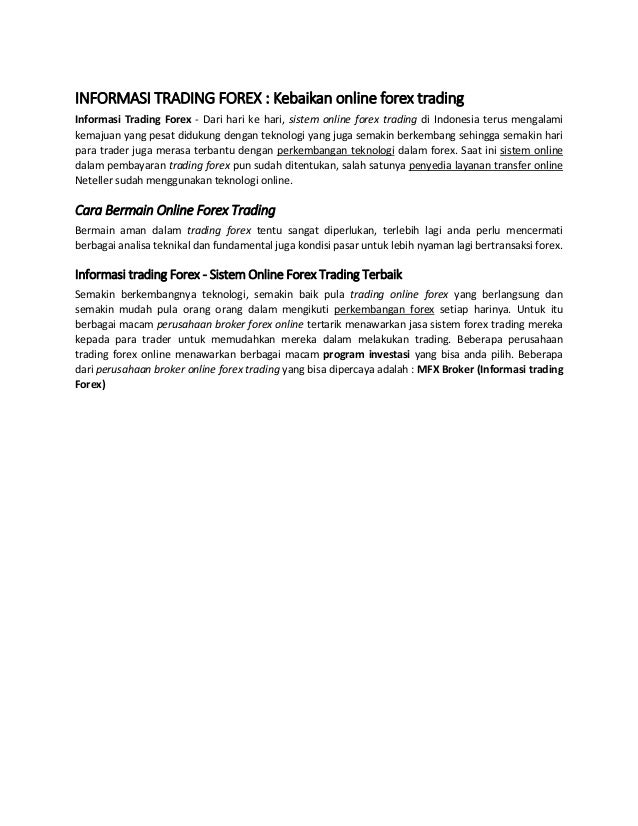 informasi tentang forex