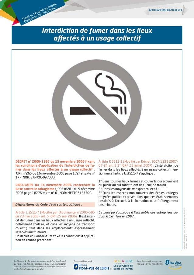 Interdiction De Fumer Affichage Obligatoire