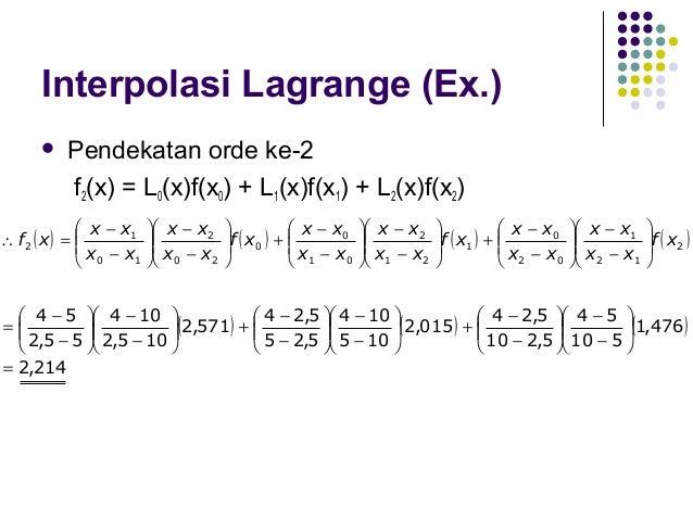 Interpolasi Spline  Tujuan:  penghalusan  Interpolasi spline linear, kuadratik, kubik.