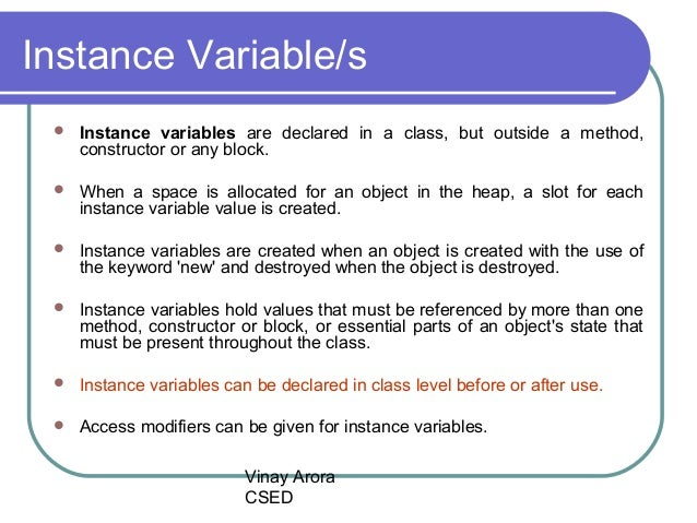 INSTANCE VARIABLE IN JAVA EPUB DOWNLOAD