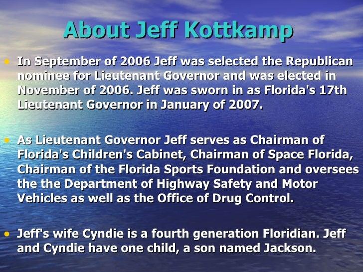 Jeff Kottkamp For Attorney General Of Florida Republican