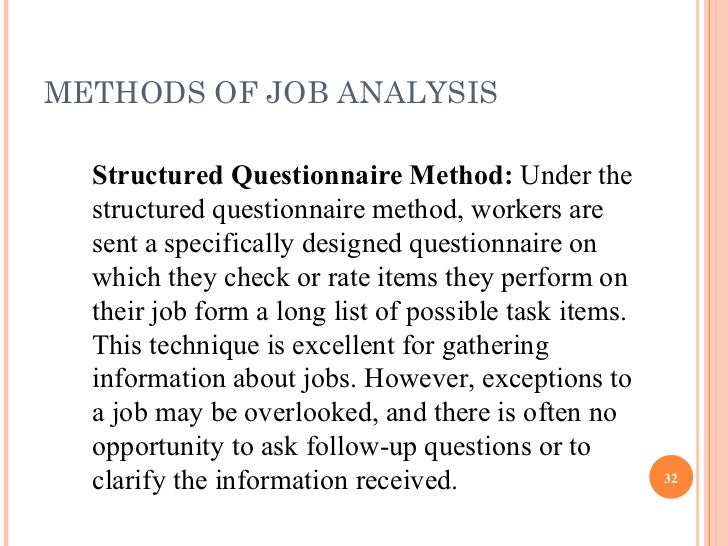 job analysis interview Job analysis 1 perform a job  write your interview questions based on the job analysis you have prepared  how to avoid discrimination when hiring.