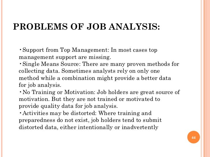 challenges in conducting job analysis