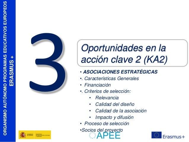 ERASMUS +  ORGANISMO AUTÓNOMO PROGRAMAS EDUCATIVOS EUROPEOS  Oportunidades en la acción clave 2 (KA2) • ASOCIACIONES ESTRA...