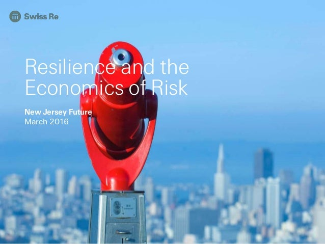 Resilience and the Economics of Risk New Jersey Future March 2016