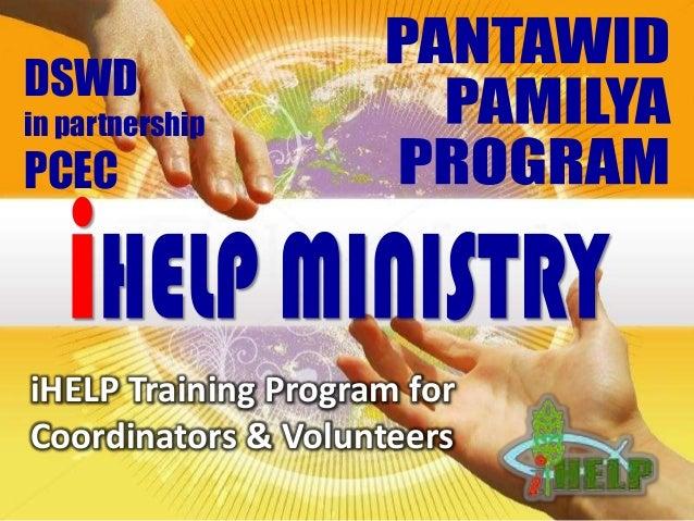 iHELP Training Program for Coordinators & Volunteers DSWD in partnership PCEC