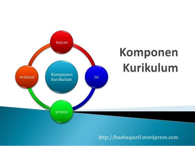 tujuan           Komponenevaluasi               isi           kurikulum            proses                         http://b...