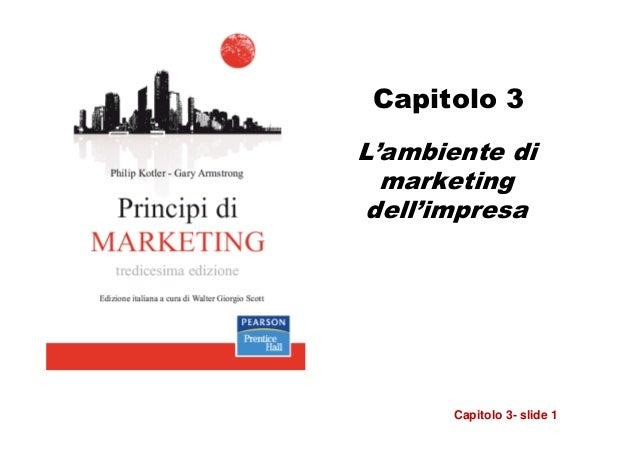 Capitolo 3L'ambiente di  marketing dell'impresa       Capitolo 3- slide 1