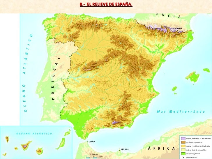 8.-  EL RELIEVE DE ESPAÑA.