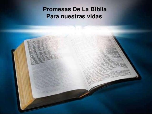 Promesas De La Biblia Para nuestras vidas
