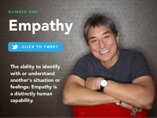 N U M B E R O N E Empathy C L I C K T O T W E E T The ability to identify with or understand another's situation or feelin...