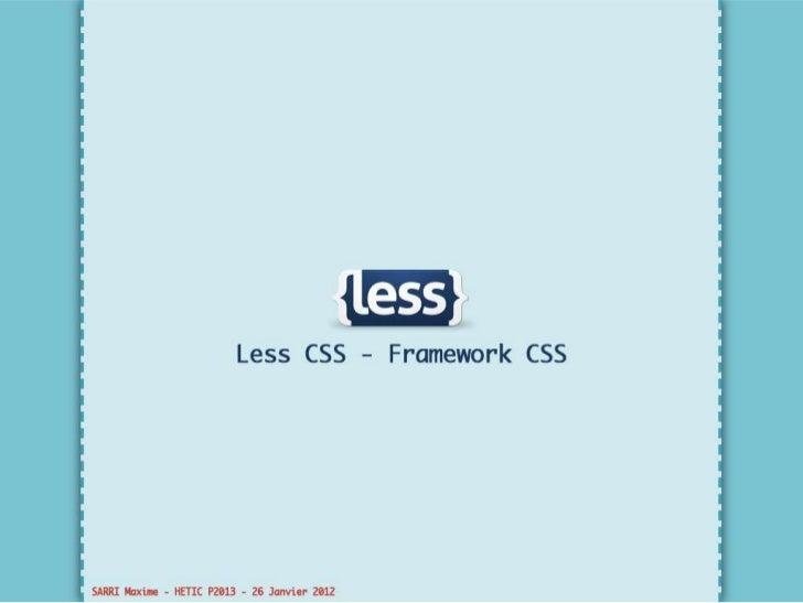 Maxime Sarri_Less CSS