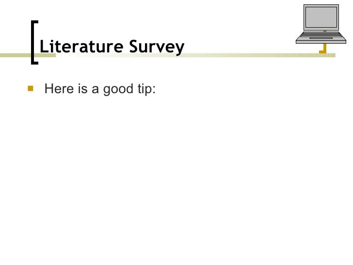 doing a literature review pdf