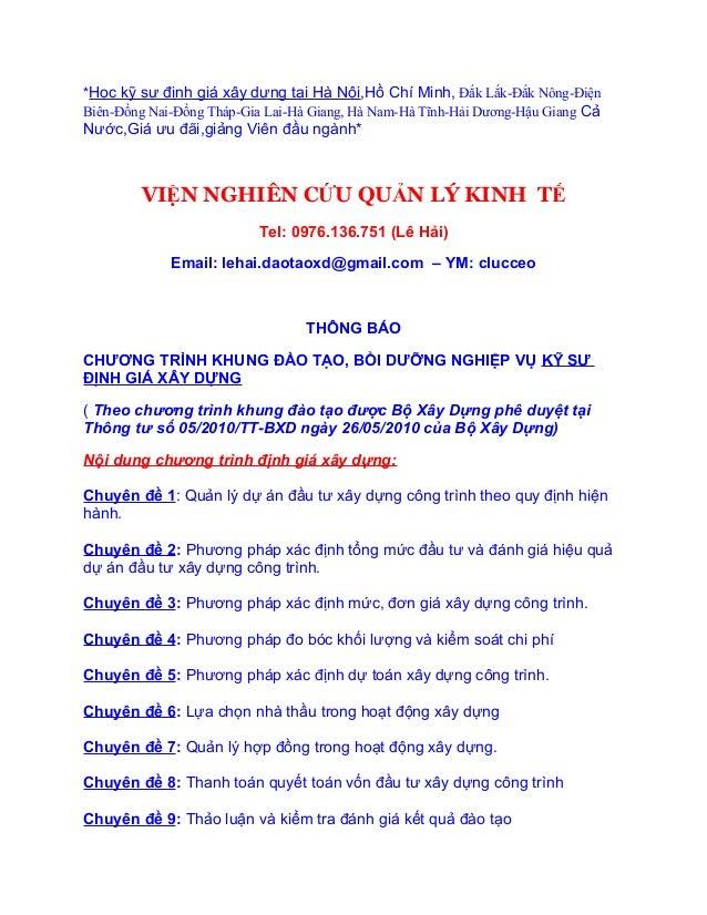 *Học kỹ sư định giá xây dựng tại Hà Nội,Hồ Chí Minh, Đắk Lắk-Đắk Nông-ĐiệnBiên-Đồng Nai-Đồng Tháp-Gia Lai-Hà Giang, Hà Nam...