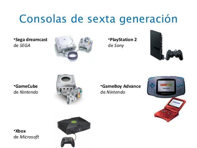 consolas de videojuegos por generaciones