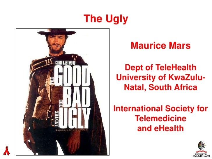 The Ugly000        Maurice Mars        Dept of TeleHealth      University of KwaZulu-       Natal, South Africa      Inter...